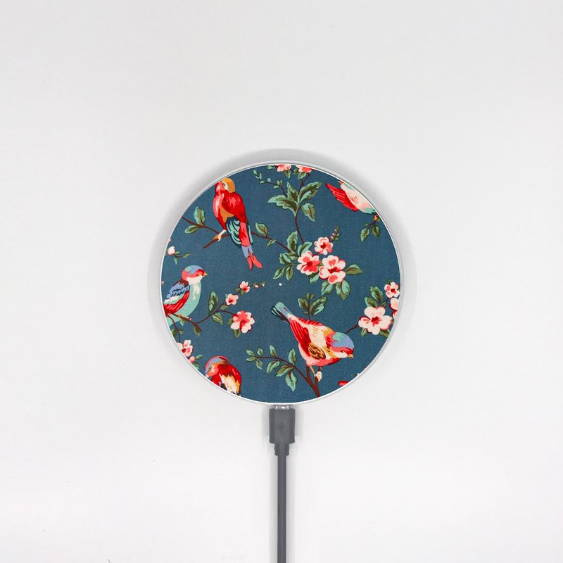 Vintage Bird and Floral Wireless Charger for iPhone Samsung Huawei Model -002