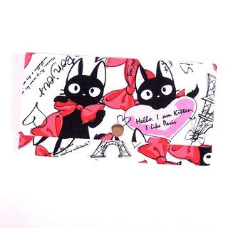 Red envelopes bankbook cash pouch - butterfly cat (red / pink)