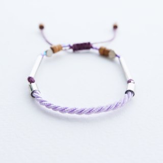 Lilac twisted rope adjustable bracelet unisex bracelet