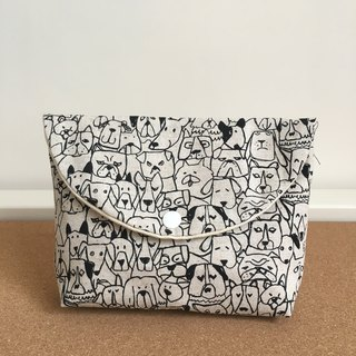 Inside a vicious dog cosmetic bag pencil file storage bag camera bag