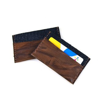 [U6.JP6 handmade leather] - pure handmade imported leather-purpose card sets / sets Easy Card / Credit Card Case (both men and women)