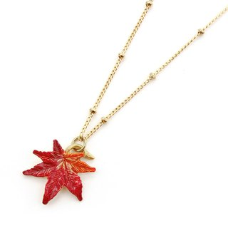 Autumn Leave necklace もみじネックレスNE395