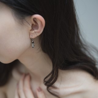 Zhu. Night Map (Handmade Earrings / Picasso Stone)