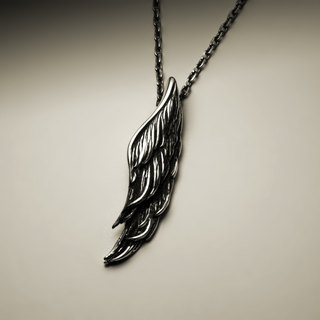 Straight wing necklace