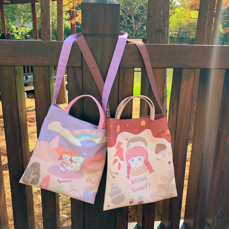 [Pre-order] sweet secret three-use canvas bag / two models (pre-order time to 2/17)
