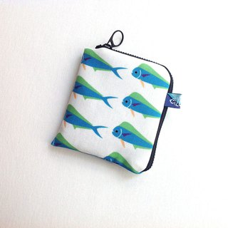 Design No.MM146 - 【Organic Cotton】Mahi-Mahi Pattern Fabric Purses