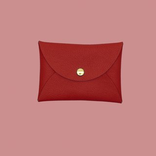 Multi-color genuine leather goatskin macarons red card holder/wallet/card holder/card case