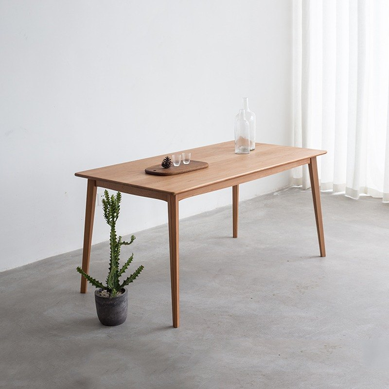 Lushan Workshop - Design Furniture - Solid Wood Home - Simple Style Long Table (130x80x75)