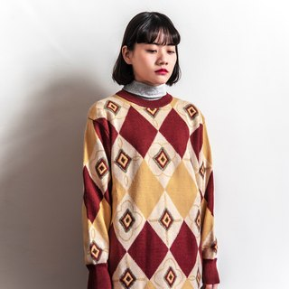 Vintage diamond pattern vintage sweater