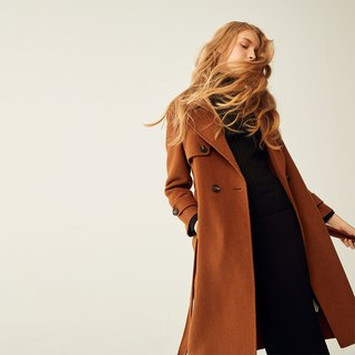 AEVEA double-faced wool coat coat