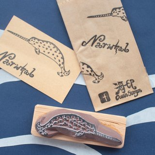 Cetacea Stamps (Narwhal)