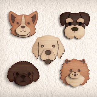 Watchdog log self-adhesive hook series (VIP, Keji, Golden Retriever, Schnauzer, Pomeranian)