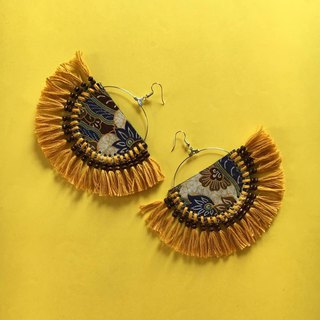 earrings : fan tribal Yellow