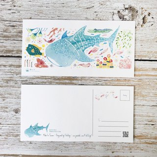 Ocean Friends Postcard - Whale Shark
