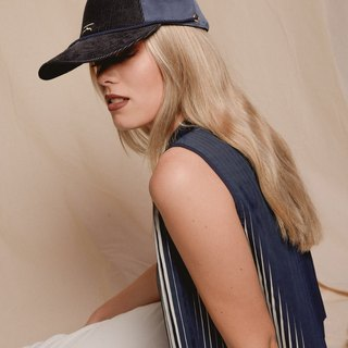 Navy customise moroccan cap and choker - Moroqshade