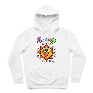 SUNNY- White - Hooded T-Shirt