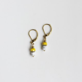 Pumpkin Brass Natural Styling Earrings