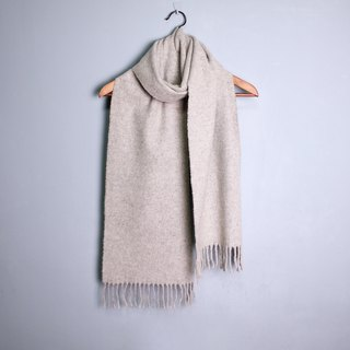 FOAK vintage cement ash-colored long scarf