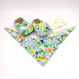 Animal tribe - Miyue baby gift box (toddler shoes / baby shoes / baby shoes + 2 handkerchief + scarf)