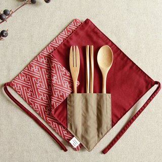 [One corner chopsticks set] - red mullet