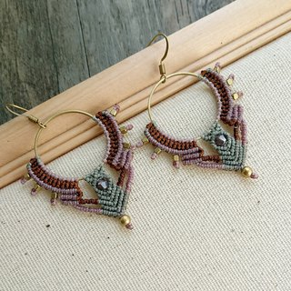 Misssheep-A108 - Bohemian Ethnic Style South American Wavy Line Braided Earrings (Hook/Ear clip)