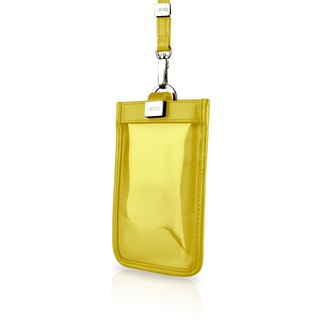 [LIEVO] TOUCH - Neck-mounted leather mobile phone case _ yellow 5.7