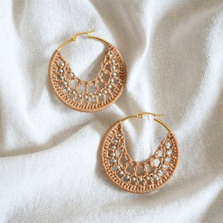 Hand-woven earrings bohemian resort wind camel