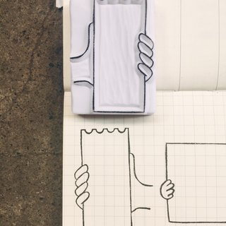 Cover which hand seal [paper series 02]