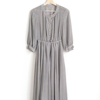 Vintage Haibo impression vintage eight-sleeve dress