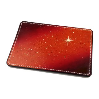 Hand-dyed Italian leather tanning Star 4MM Houzhi pen writing pad / leather pad / mouse pad / cowhide / Sew / orange section