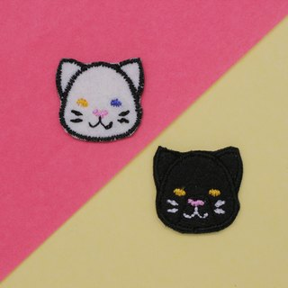 Black&White Cat Set Iron Patch (set of 2)