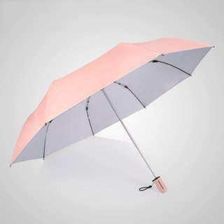 [German Kobold] Anti-UV Pink Queen Series - Silicone Honeycomb - Massage Handle - Shade Sunscreen Triple Fold Umbrella - Princess Pink