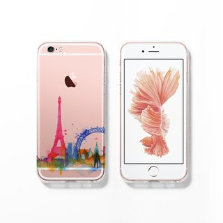 iPhone 6 case, Clear iPhone 6s case, Decouart original design C120 Paris