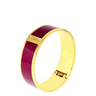 Pure color Masaala wine red cloisonne enamel series of solid color bracelet (gold) -11800159014