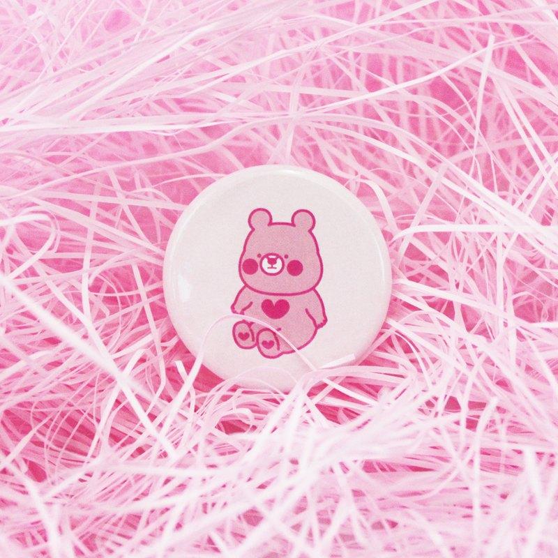 22熊/粉紅小熊/胸章/徽章/別針