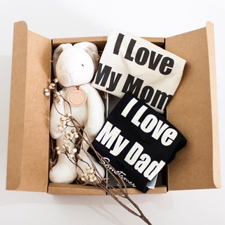 my little star - mini rabbit two love hug organic cotton Mi moon gift box