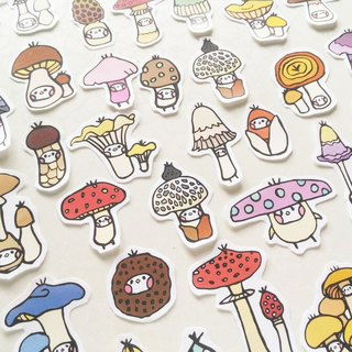 mushroom illustration sticker