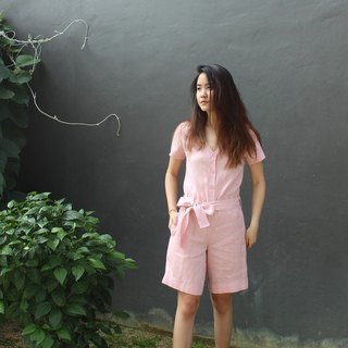 Made to order linen jumpsuit / women linen jumpsuit / casual pant  E29P