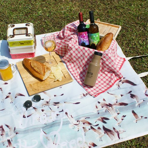 [DESTINO STYLE] Japanese Green Feng Shui natural back picnic mats (small)
