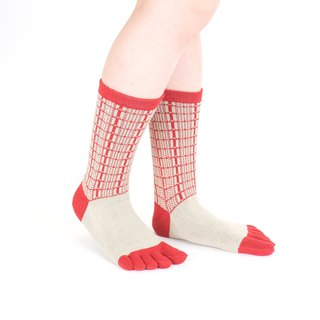 building pattern 5toe socks