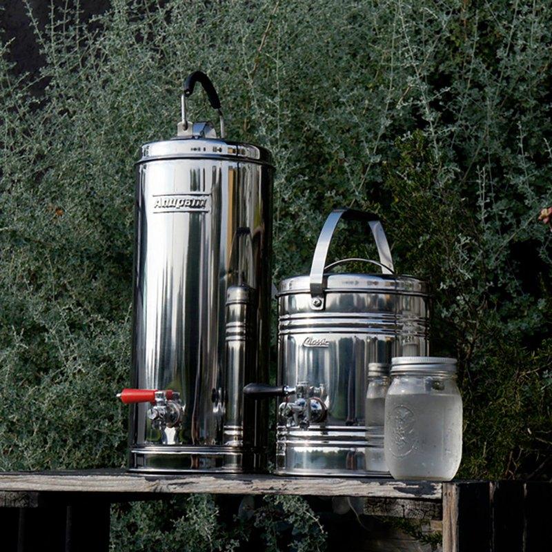 Beverage Dispenser 2 5l Vintage Stainless Steel Drink Bucket