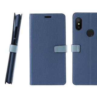 CASE SHOP Red Rice Note6 Pro Dedicated Side 掀 Stand-up Leather Case - Blue (4716779660623)