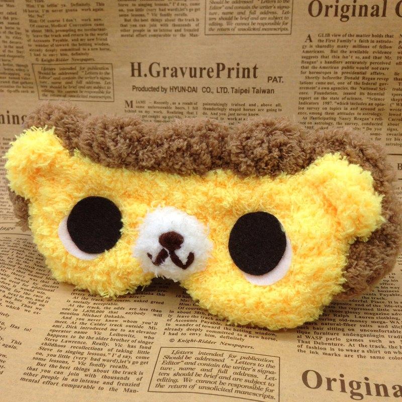 棉花糖動物眼罩-獅子