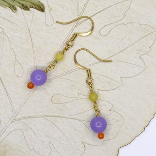 [Riitta] Vienna purple jade earrings (interchangeable clip)