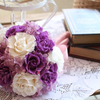 [Purple romance - wedding bouquet flowers immortalized] - eternal flower / dried flower / bouquet jewelry / wedding bouquets bouquet / Flowers & Gifts