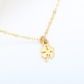 Lucky Clover s925 sterling silver 24k gold plated necklace Valentine's day gift