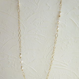 Wild natural pearls long chain