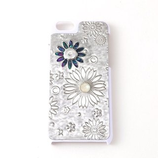 Smart phone case (iphone6PLUS/flower white)