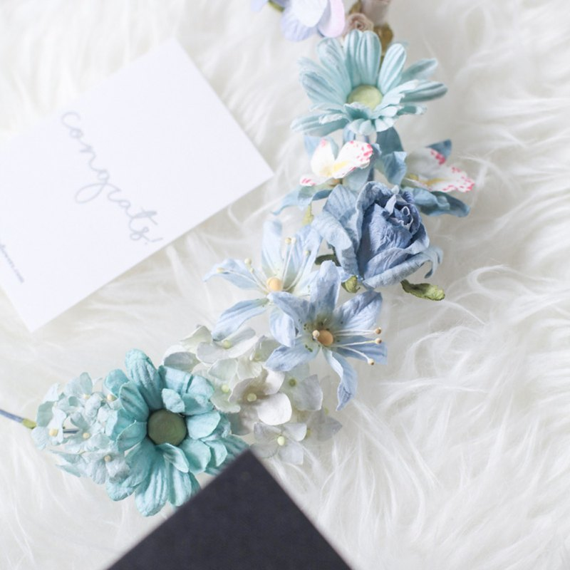 Simple flower headband handmade mulberry paper flower designer simple flower headband handmade mulberry paper flower mightylinksfo