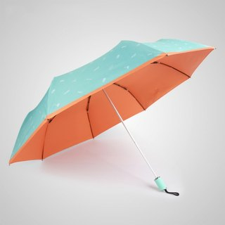 [German Kobold] UV-resistant Hawaiian style - ultra-light shade sunscreen 30 percent umbrella - Orange A